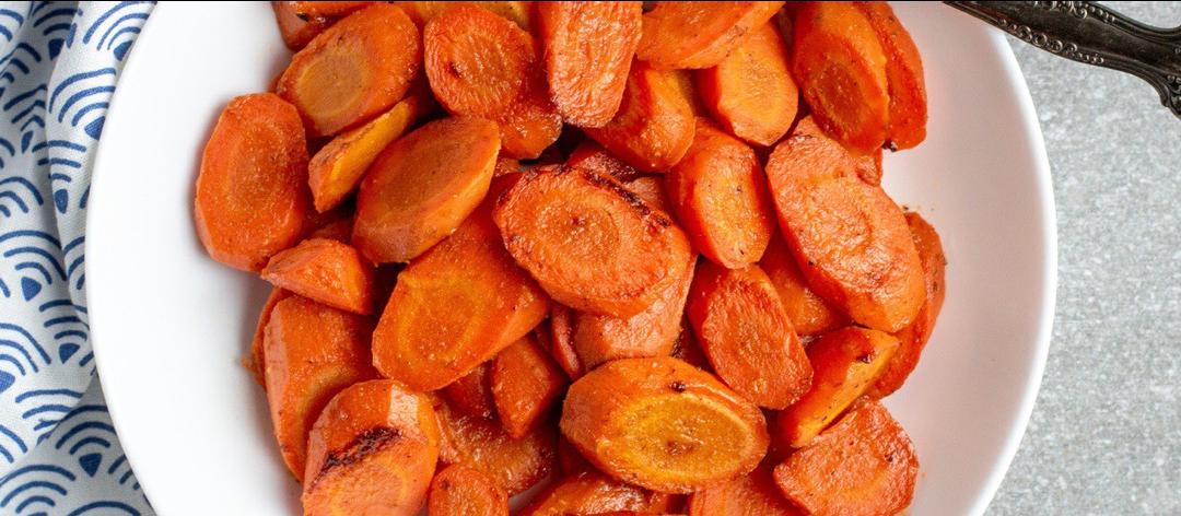 Rezept: gebackene Möhren mit Ahornsirup und Orange