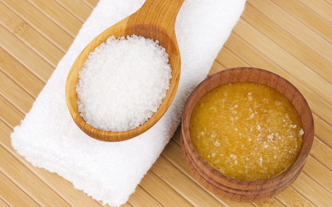 Rezept: Honig-Meersalz-Peeling