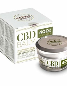 Hanfcreme hoher Wirksamkeit | CBD Creme (400 mg Cannabidiol) zur Linderung von Muskel- und Gelenkschmerzen - 50 ml | Hemps Pharma - CBD Balm Strength