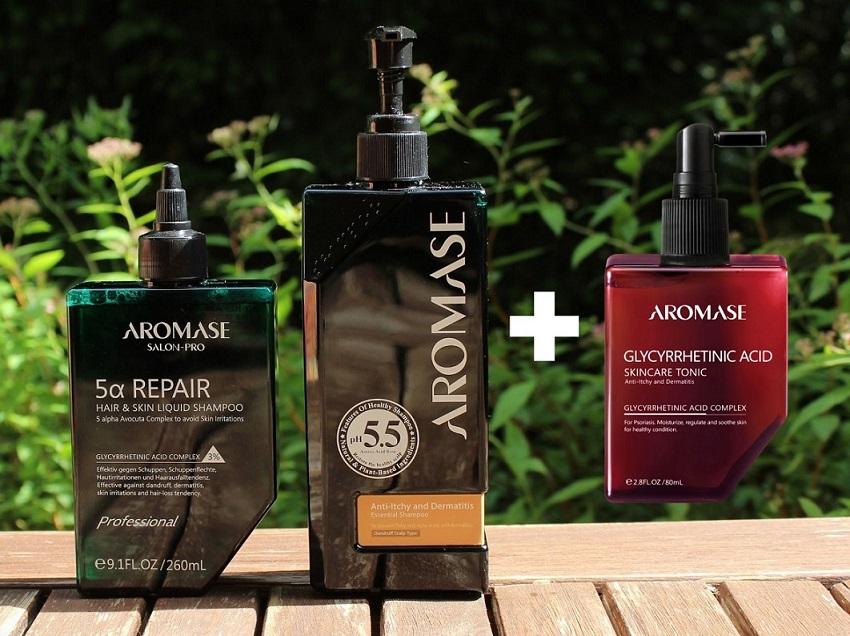 AROMASE Produkttest: Im Set gegen Psoriasis auf der Kopfhaut – inkl. Rabatt-Code